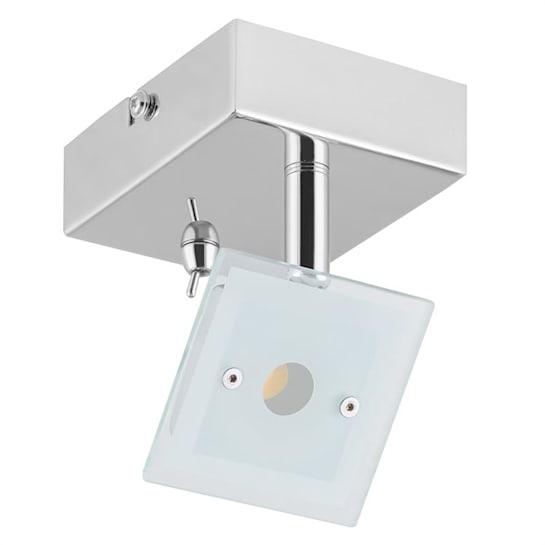 Vegard 1 Spotlampa LED 5W 400 lm roterbar svängbar Krom Glas