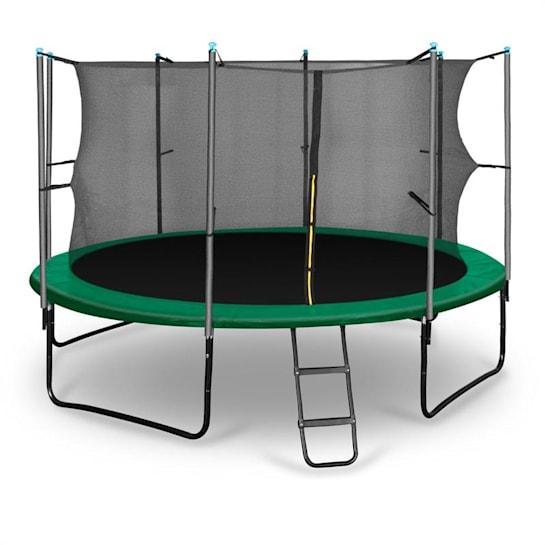 Rocketstart 366 trampoliini 366 cm turvaverkko, tikkaat, vihreä