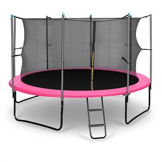 Rocketgirl 366 trampoliini 366 cm turvaverkko, tikkaat, pinkki