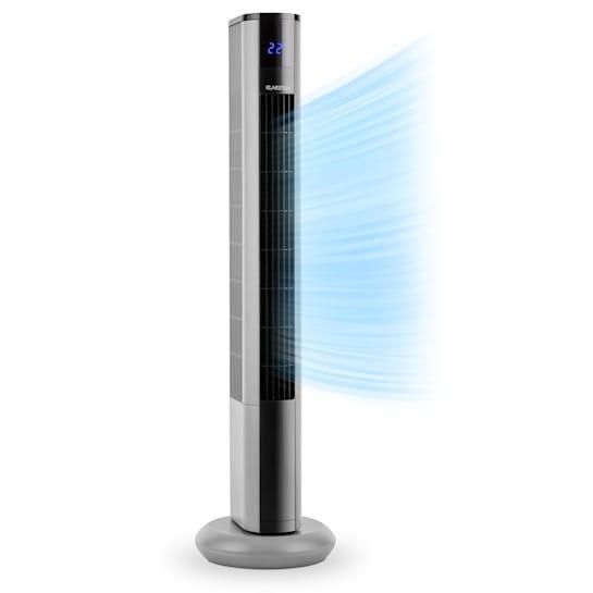 Skyscraper 3G Ventilador de torre 48w flujo de aire de 1.633 m³/h panel táctil color plateado