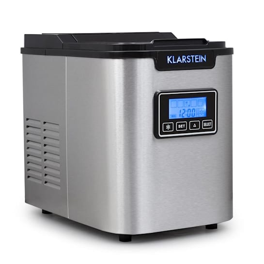 ICE6 Icemeister, naprava za pripravo ledenih kock, 12 kg / 24 h., Iz nerjavečega jekla, črna