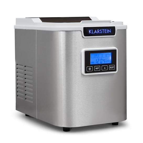 Klarstein ICE6 Icemeister, naprava za pripravo ledenih kock, 12 kg / 24 h., Iz nerjavečega jekla, bela