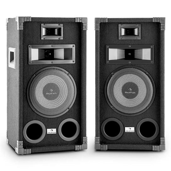 "PA-800 Full-Range PA Speaker Pair 8"" Subwoofer 800W Max"