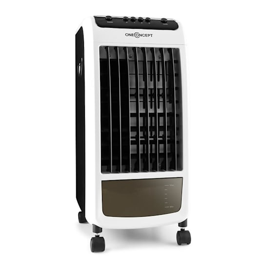 Caribbean Blue Air Cooler Humidifier Fan 400m³ / h Black