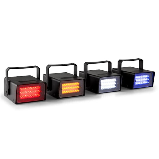 Mini, sada 4 LED stroboskopů v RGBW