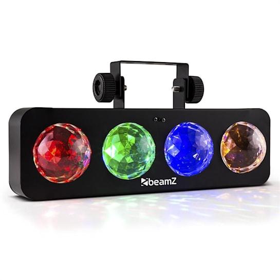 DJ Bank BX LED fényeffekt, 4 x RGBA-LED, távirányító, fekete