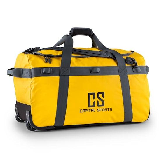 Large Travel Bag 90L Backpack Trolley Waterproof Yellow