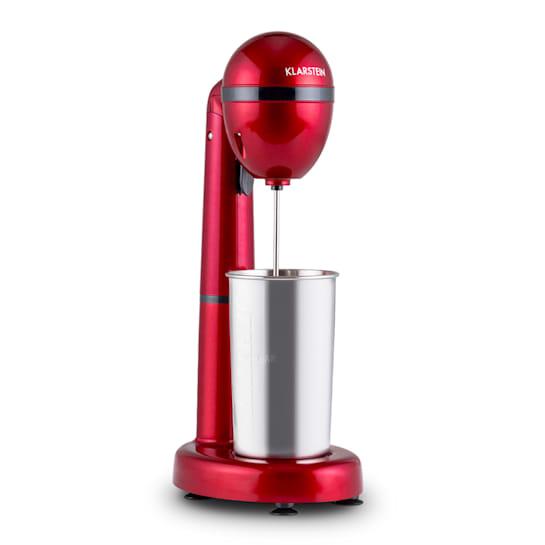 Klarstein van Damme, 100 W, mikser za miješanje pića, 450 ml, čaša od nehrđajućeg čelika, crveni