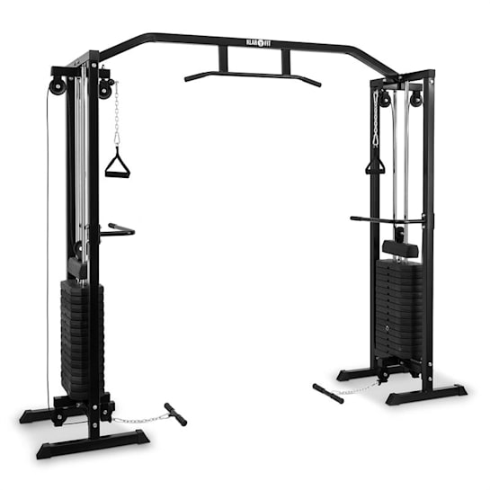 Cablefit edzőtorony, 2 x 77kg, acél, fekete
