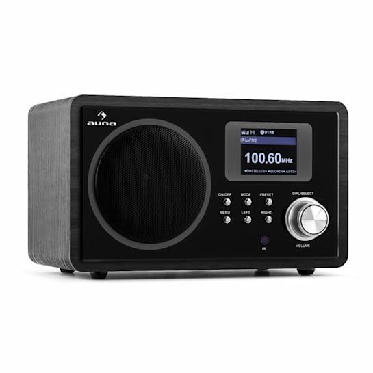 IR-150 Internet-Radio UKW DLNA WLAN Retrò Telecomando Legno Nero
