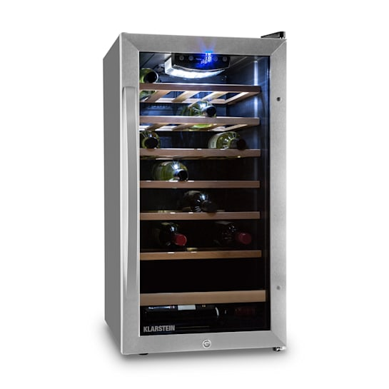 Vinamour 26 Uno wine refrigerator 26 bottles 88 litres stainless steel LED