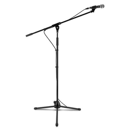 KM 02 Set Supporto Microfono 4 pz. Morsetto Cavo 5m