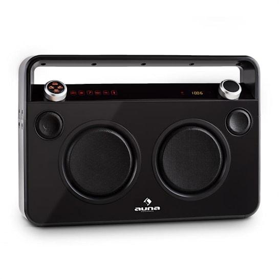Bebop Ghettoblaster noir USB Bluetooth AUX MIC batterie intégrée
