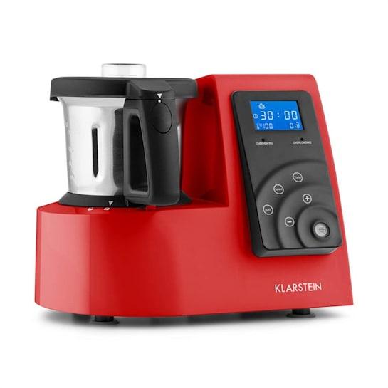 Kitchen Hero 9-in-1, piros, 2 l, 600/1300 W, hővel kezelő konyhai robotgép