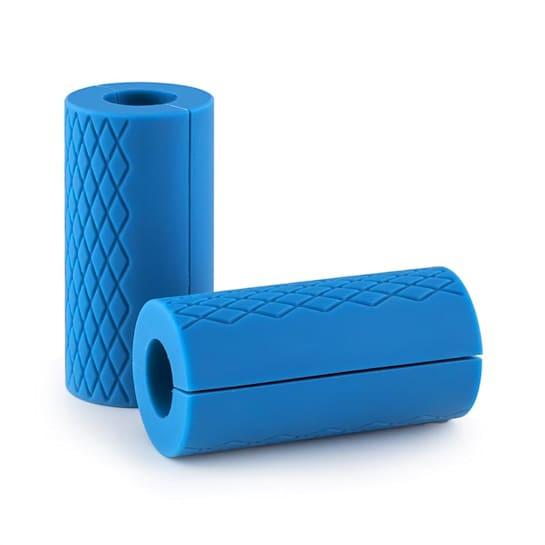 Grapsch, modrý, gumový grip na posilovací tyč, 2ks