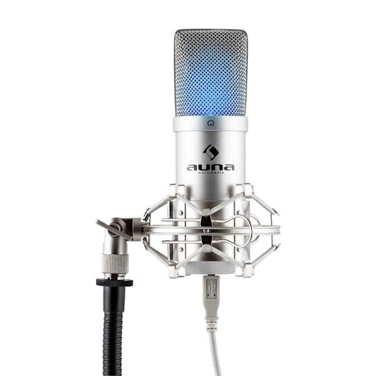 MIC-900 S -LED, сребро, USB Studio микрофон, LED