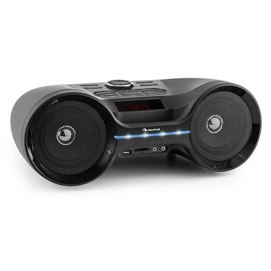 Boombastic Bluetooth-Boombox USB SD MP3 AUX UKW LED Akku
