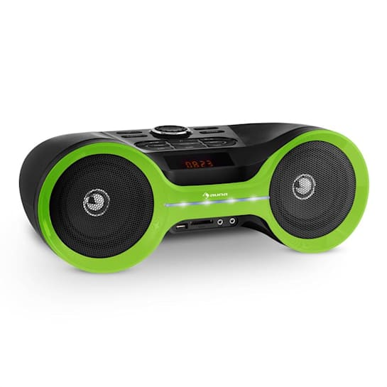 Boombastic Bluetooth-Boombox USB SD MP3 AUX UKW LED Akku