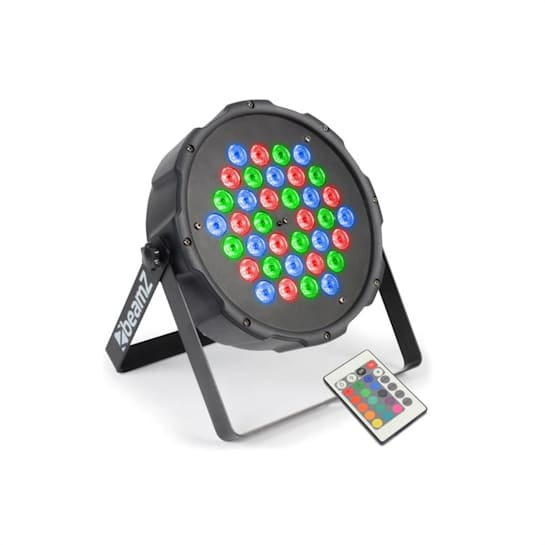 FlatPAR 36 x 1W Projektor PAR RGB LED DMX IR z pilotem