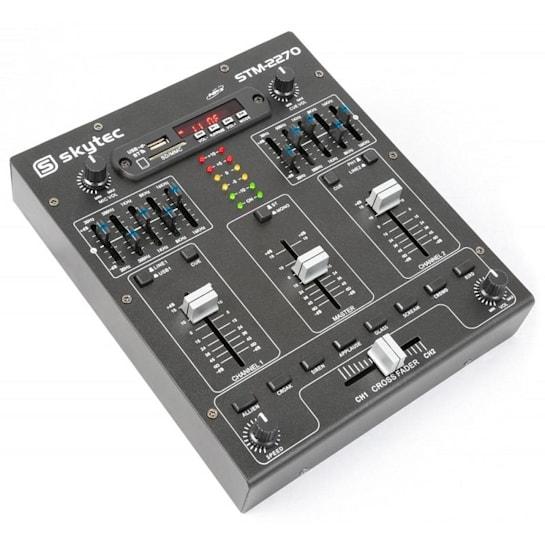 STM-2270, 4 csatornás keverőpult, bluetooth, USB, SD, MP3, FX