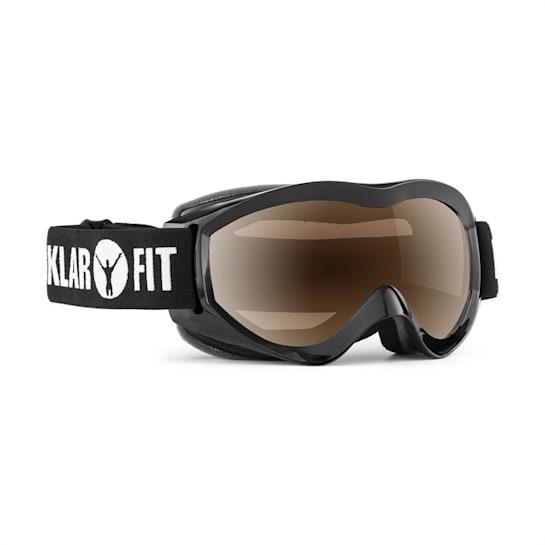 Snow View, černá, lyžařské brýle, snowboardování, REVO vrstva, celorámové
