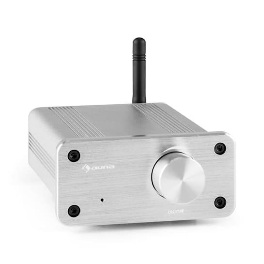 BT-Bro silver Mini Amplificatore Stereo Classe D Bluetooth In Alluminio