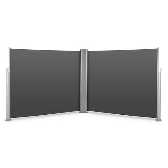 Bari Doppio 616 sivumarkiisi kaksisivuinen 6 x 1,6 m alumiini antrasiitti