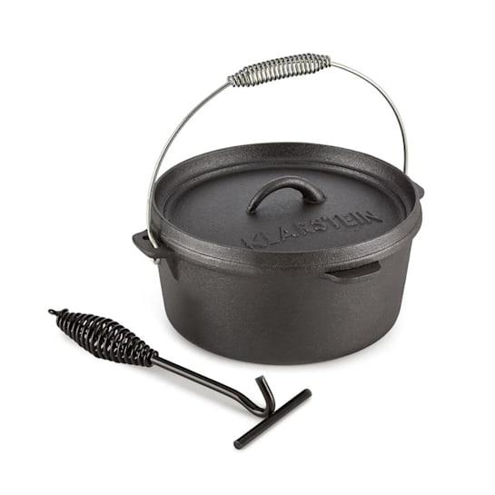 Hotrod 45 Dutch Oven garnek żeliwny BBQ 4,5 qt/4 l czarny