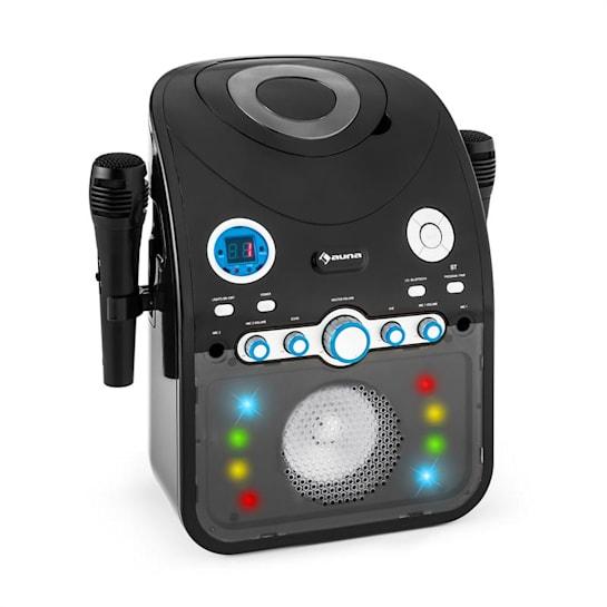 StarMaker Karaokeanlage CD Bluetooth AUX LED-Lichteffekt 2x Mikrofon