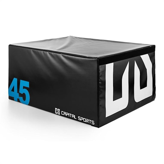 Rookso Soft Jump Box Plyo 90x45x75 cm Nero