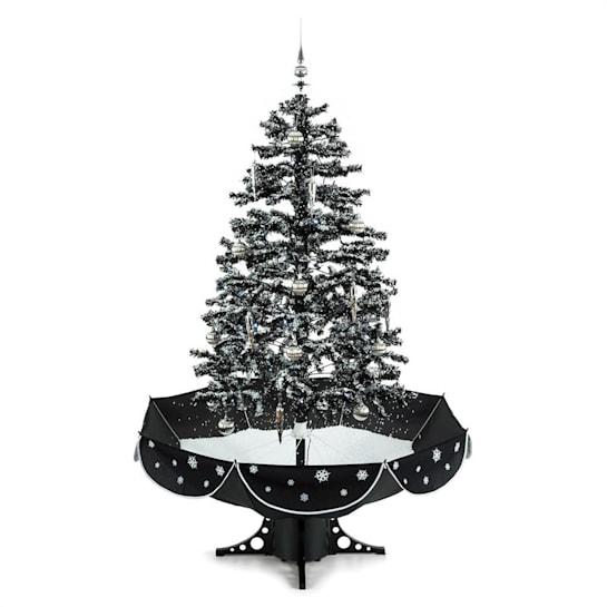 Everwhite, vánoční stromeček, 180 cm, simulace sněžení, černý