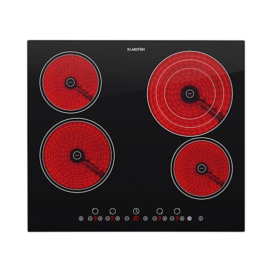 Klarstein Virtuosa, 6500 W, 59 x 52 cm, keramička daska za kuhanje za ugradnju, 4 zone, staklokeramika