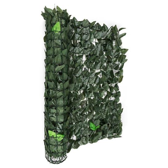 Fency Dark Leaf Clôture pare-vue Paravent 300x100 cm -mélange vert foncé