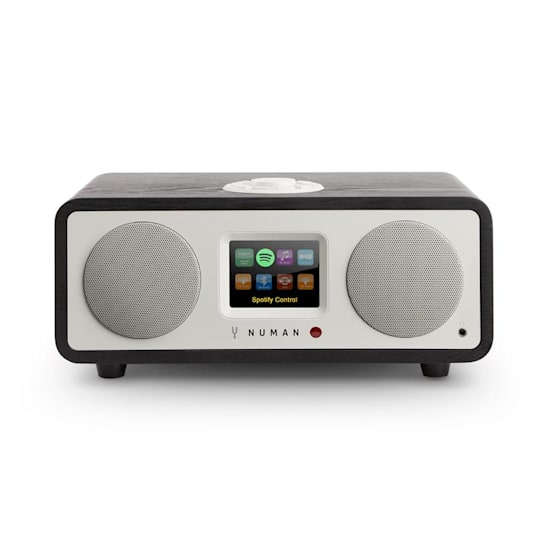 One - 2.1 Design Internet Radio 20W Bluetooth Spotify Connect DAB + Black Oak