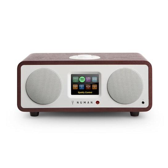 One – 2.1 Radio con internet de diseño 20 W Bluetooth Spotify Connect DAB+, palisandro