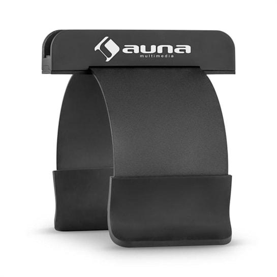 SmartHold, fekete, tablet és okostelefon tartó, fém, gumi, rugalmas, hordozható