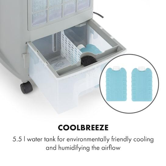 Air cooler thank capacity