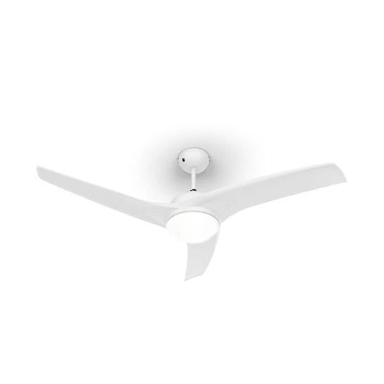 """Figo Ventilatore da Soffitto 52"""" 55W Lampadario 2x42W Telecomando bianco"""