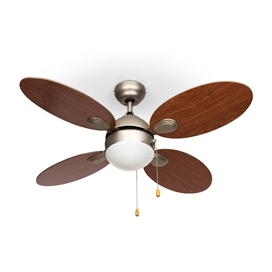 "Valderama Ceiling Fan 42"" 60W Ceiling Lamp 2 x 43W Cherry Wood"