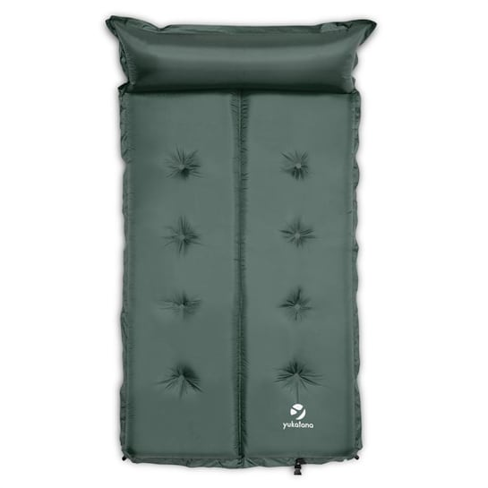 Goodbreak 3 Sleeping Mattress Double Airbed 3cm Thick Pillow Green