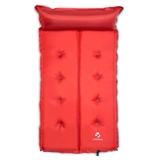 """""""Гуудбрейк 10"""", 10см., надуваема двойна постелка (матрак), самонадуваема, с възглавница, червена"""
