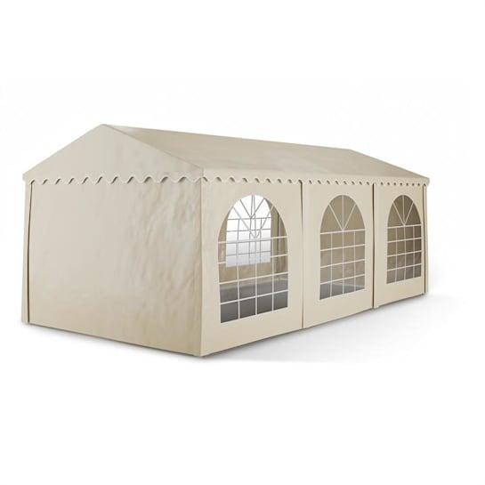 Sommerfest 3x6m 500 g/m² Tendone da festa Gazebo PVC Impermeabile Beig