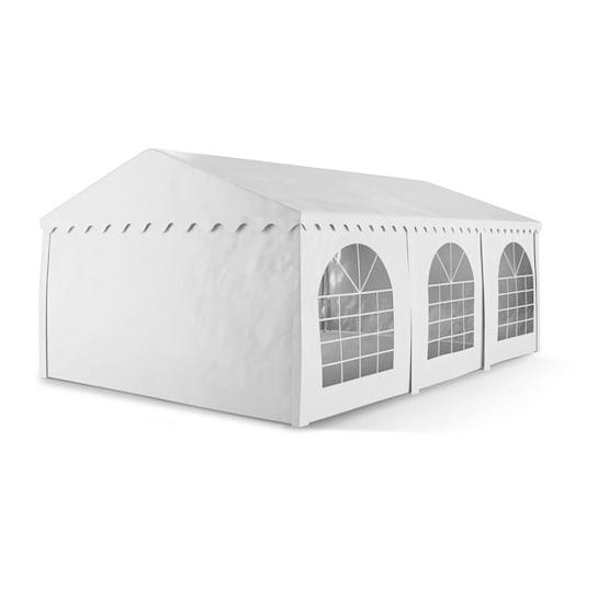 Sommerfest 4x6m 500 g/m² partytent PVC waterdicht gegalvanis wit
