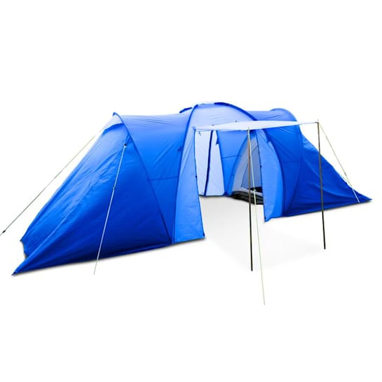 Ollico Tunnel Tent 6 People 560x200x230 cm Polyester 2000 mm Blue