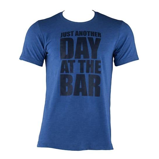 тренировъчна мъжка тениска, кралско синьо, размер M