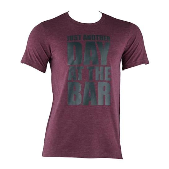 тренировъчна мъжка тениска, кестен, размер XL