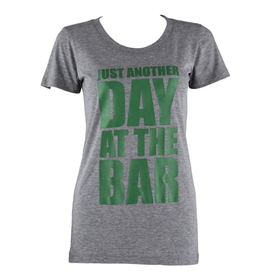 Trainings-T-Shirt für Frauen Size L Grau meliert