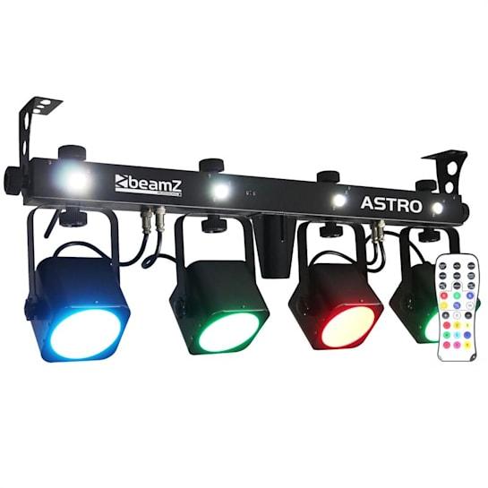 LED ASTRO Parbar 4-Way Kit COB LED 4 x 10W DMX incl. Footswitch
