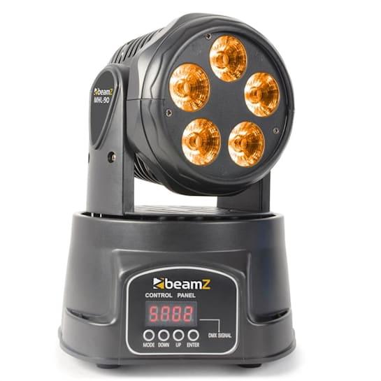 MHL90 Mini Movinghead Wash LED-Lichteffekt 5 x 18W RGBAW-UV 6-in-1