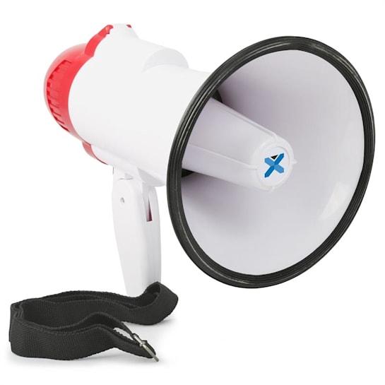MEG020, megafon, 20 W, funkce nahrávání, siréna, provoz na baterie, popruh